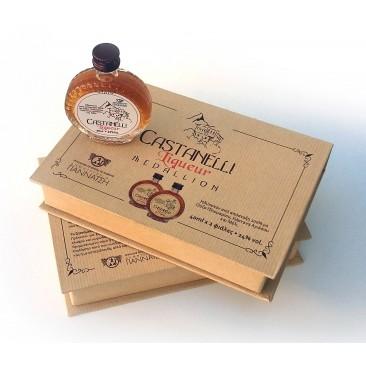 Castanelli liqueur 24°vol 2Χ40ml Medallion case