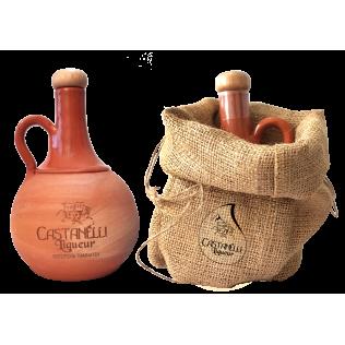 Castanelli liqueur 24°vol 500ml handmade ceramic jug