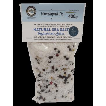 Mitilinia Gi Sea Salt with 4 Peppers 400gr